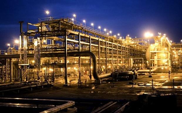 Khu tổ hợp khai thác khí đốt của Saudi Aramco tại Saudi Arabia - Ảnh: Arabian Business.