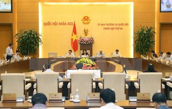 Toàn cảnh Phiên họp lần thứ 48 của Ủy ban Thường vụ Quốc hội khóa XIII. (Ảnh: Trọng Đức/TTXVN)