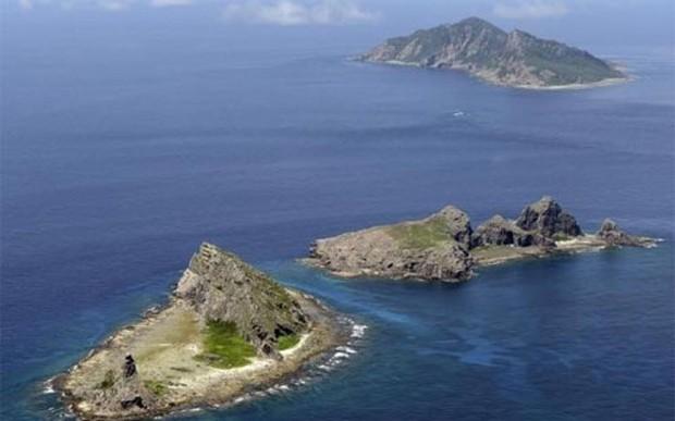 Một phần quần đảo tranh chấp giữa Trung Quốc và Nhật Bản Điếu Ngư/Senkaku trên biển Hoa Đông - Ảnh: Reuters.