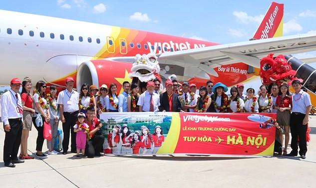Vietjet khai trương đường bay từ Hà Nội đến Tuy Hòa
