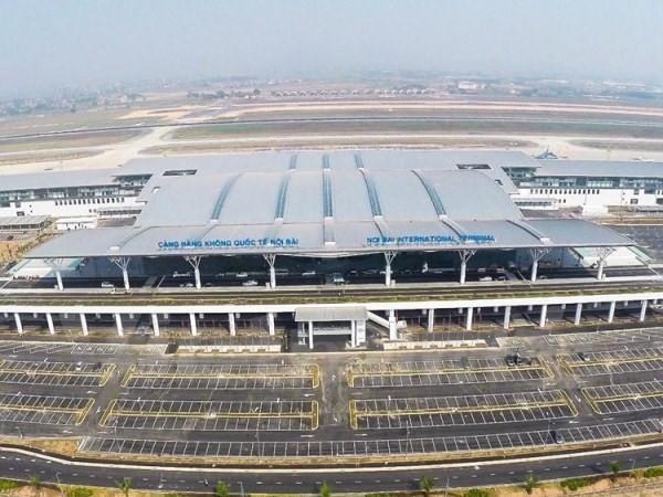 Nhà ga T2, sân bay quốc tế Nội Bài nhìn từ trên cao. (Ảnh: Minh Sơn-Hoàng Long/Vietnam+)