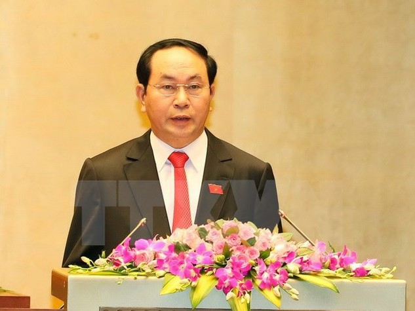 Chủ tịch nước Trần Đại Quang. (Ảnh: Thống Nhất/TTXVN)