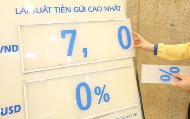 Thời gian gần đây, một số chuyên gia khuyến nghị Ngân hàng Nhà nước xem xét lại chính sách trần lãi suất USD, nâng trở lại để huy động bền vững hơn nguồn lực ngoại tệ trong dân cư - Ảnh: Quang Phúc.