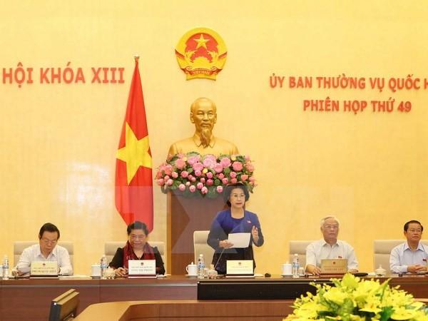 Chủ tịch Quốc hội Nguyễn Thị Kim Ngân phát biểu khai mạc. (Ảnh: Phương Hoa/TTXVN)