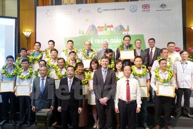 Các doanh nghiệp sẽ được tài trợ về vốn, kỹ năng để triển khai dự án của mình. (Ảnh: T.L/Vietnam+)
