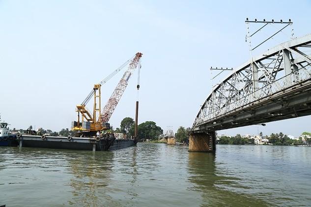 Cầu Ghềnh sắp thông, Đường sắt Bắc Nam chuẩn bị hoạt động bình thường