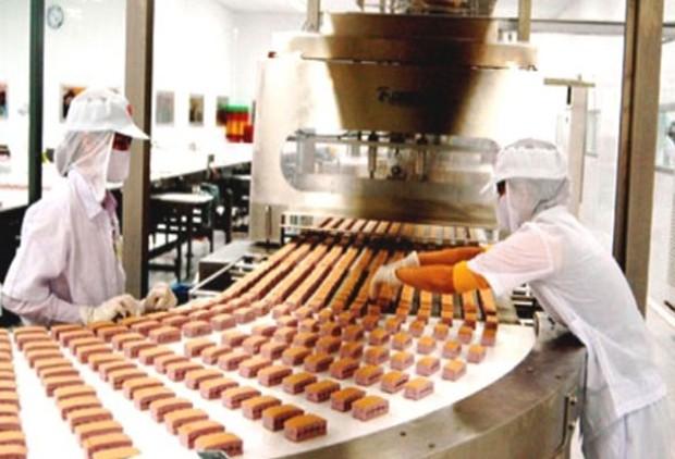 Dây chuyền sản xuất bánh của KDC. Ảnh Internet
