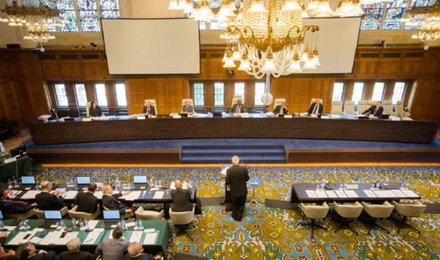 Một phiên điều trần của Tòa Trọng tài thường trực trong vụ Philippines kiện Trung Quốc về Biển Đông. (Nguồn: PCA)