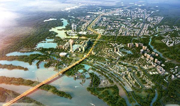 Tổng chiều dài tuyến đường Nhật Tân - Nội Bài với điểm đầu là sân bay Nội Bài, điểm cuối là cầu Nhật Tân, dài khoảng 11,1 km, diện tích nghiên cứu lập quy hoạch đô thị khoảng 2.080 ha.