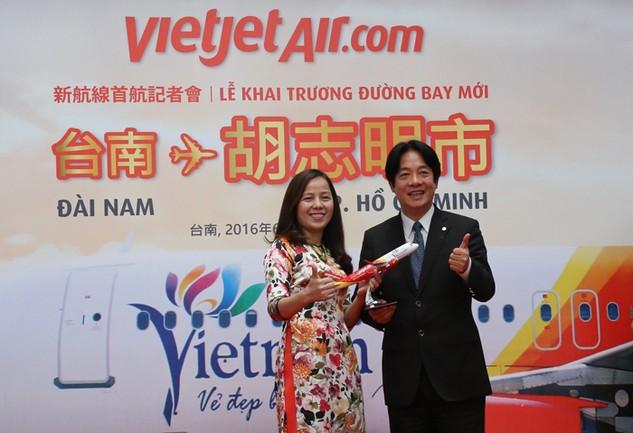 Vietjet khai trương đường bay TP.HCM – Đài Nam