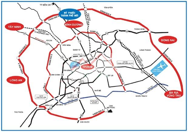 Bản đồ quy hoạch giao thông liên vùng Phía Nam Việt Nam