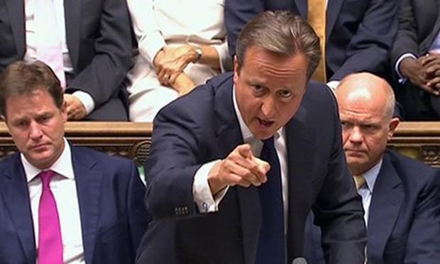Thủ tướng Anh David Cameron phát biểu tại Quốc hội. Ảnh:Guardian