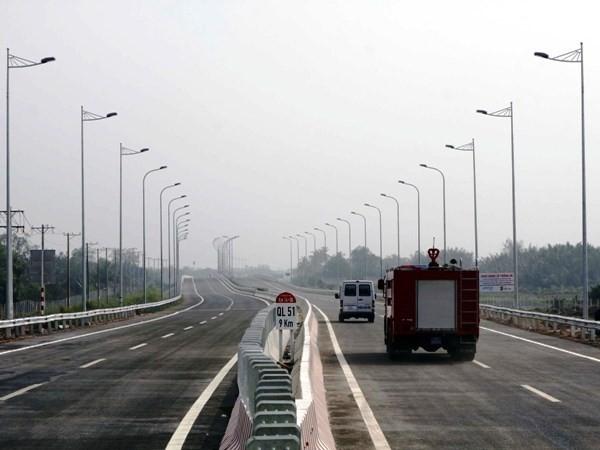 Một đoạn cao tốc Thành phố Hồ Chí Minh-Long Thành-Dầu Giây được đưa vào khai thác. (Ảnh: Hoàng Hải/TTXVN)