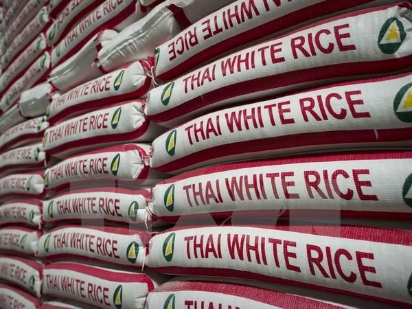 Gạo Thái Lan tại nhà máy ở Bangkok. (Ảnh: AFP/TTXVN)
