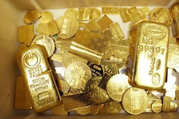 Giá vàng tăng mạnh trong tháng 6. Ảnh: AFP.