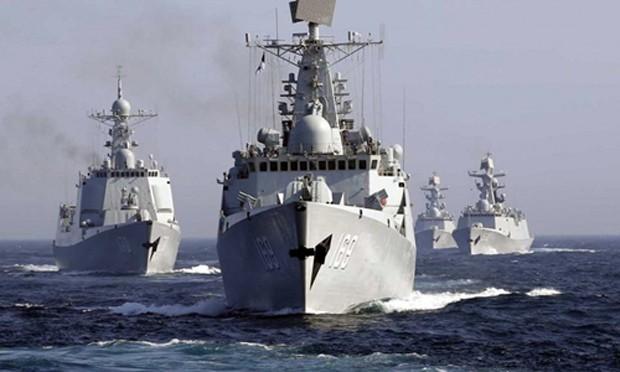 Hải quân Trung Quốc tập trận ở Biển Đông. Ảnh: Military.com