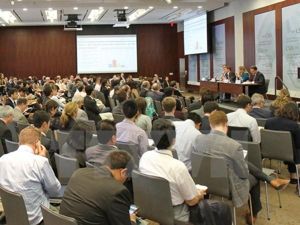 CSIS tổ chức Hội thảo về vụ Philippines kiện các tuyên bố chủ quyền của Trung Quốc ở Biển Đông. (Ảnh: Thanh Tuấn/TTXVN)