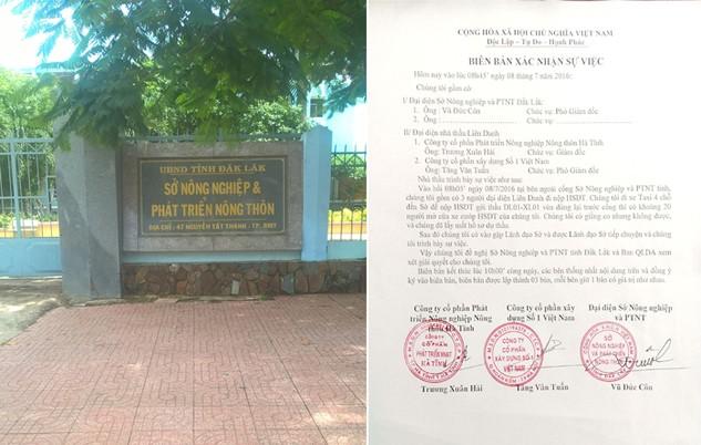 Ngày 8/7, Sở NN&PTNT Đắk Lắk đã có văn bản đề nghị công an hỗ trợ để đảm bảo an ninh trật tự trong quá trình tổ chức đấu thầu Gói thầu DL01-XL01