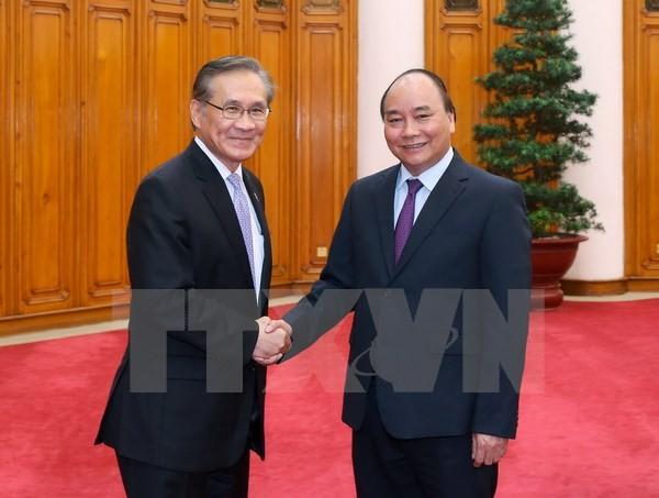 Thủ tướng Nguyễn Xuân Phúc tiếp Bộ trưởng Ngoại giao Vương quốc Thái Lan Don Pramudwinal. (Ảnh: Thống Nhất/TTXVN)