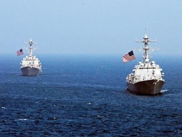 Tàu chiến Mỹ đi qua khu vực Biển Đông. (Nguồn: Getty Images)