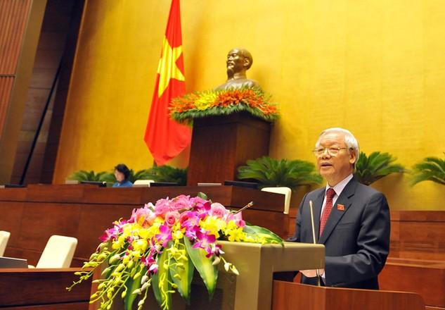 Tổng Bí thư Nguyễn Phú Trọng yêu cầu các đại biểu Quốc hội nâng cao chất lượng quyết định các dự án đầu tư quan trọng, nhạy cảm. Ảnh: Nhật Bắc