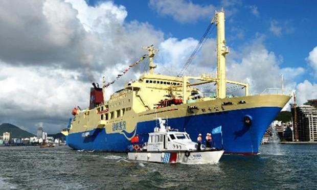 Một tàu du hànhTrung Quốc từng ra quần đảo Hoàng Sa trái phép. Ảnh: Xinhua