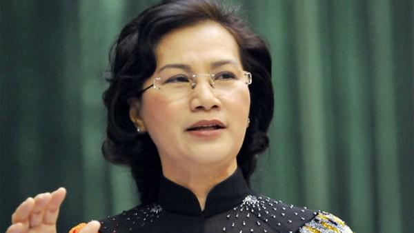 Bà Nguyễn Thị Kim Ngân, Chủ tịch Quốc hội khoá 13 được giới thiệu bầu giữ chức Chủ tịch Quốc hội khoá 14.