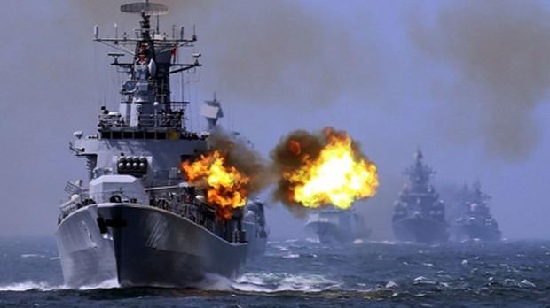 Một cuộc tập trận của Trung Quốc ở biển Hoa Đông. Ảnh: AP