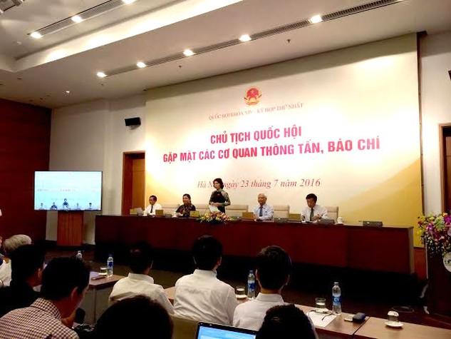 Chủ tịch Quốc hội Nguyễn Thị Kim Ngân đánh giá cao vai trò của báo chí trong việc tạo sự đồng thuận của xã hội với các quyết sách của Quốc hội