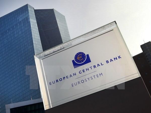 Quang cảnh bên ngoài trụ sở ECB ở Frankfurt am Main, miền tây Đức ngày 21/1. (Nguồn: AFP/TTXVN)