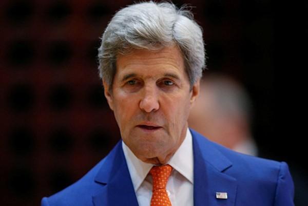 Ngoại trưởng Mỹ John Kerry đến hội nghị của ASEAN tại Vientiane, Lào. Ảnh:Reuters