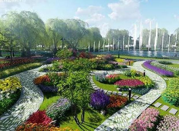 Phối cảnh công viên trong khuôn viên Khu đô thị VSIP Quảng Ngãi