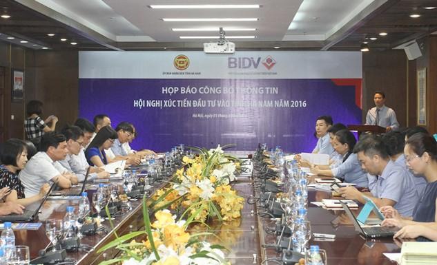 Họp báo Hội nghị xúc tiến đầu tư vào tỉnh Hà Nam