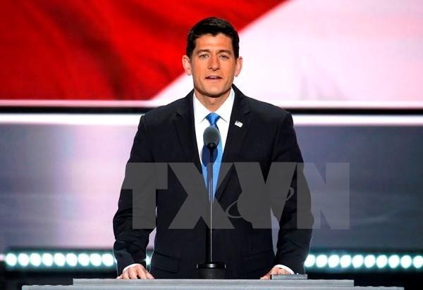 Chủ tịch Hạ viện Mỹ Paul Ryan. (Nguồn: EPA/TTXVN)