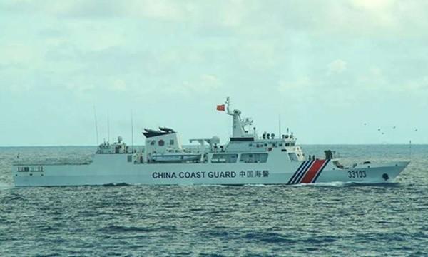 Nhật Bản tố Trung Quốc đưa tàu hải cảnh xâm phạm trái phép vùng biển gần Senkaku. Ảnh minh họa: Straits Times.