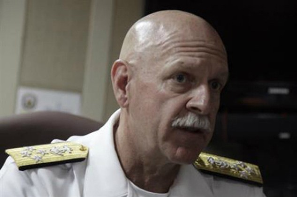 Đô đốc Mỹ Scott Swift. Ảnh: AP