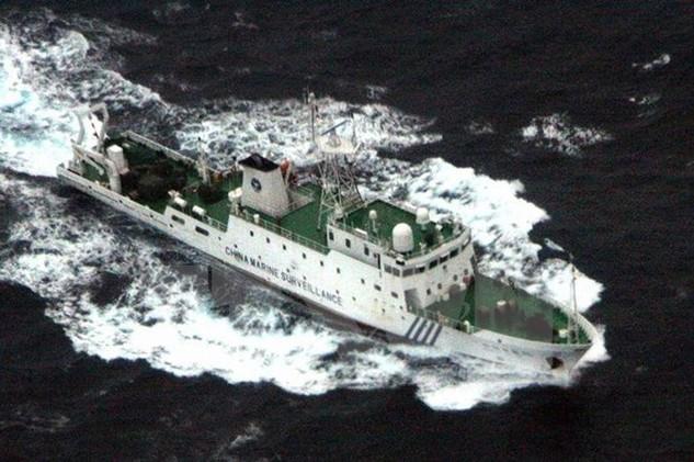 Tàu hải giám Trung Quốc tại vùng biển gần đảo tranh chấp Điếu Ngư/Senkaku năm 2013. (Nguồn: AFP/TTXVN)