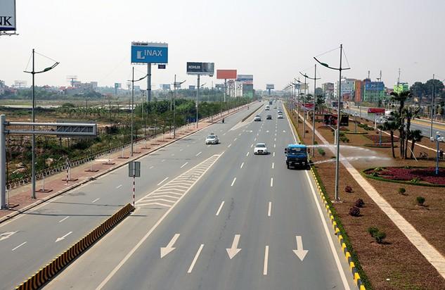 Dự án Xây dựng đường nối từ sân bay Nội Bài đến cầu Nhật Tân điều chỉnh tổng mức đầu tư từ 4.956,2 tỷ đồng lên 6.742,3 tỷ đồng (tăng 36%). Ảnh: Lê Tiên