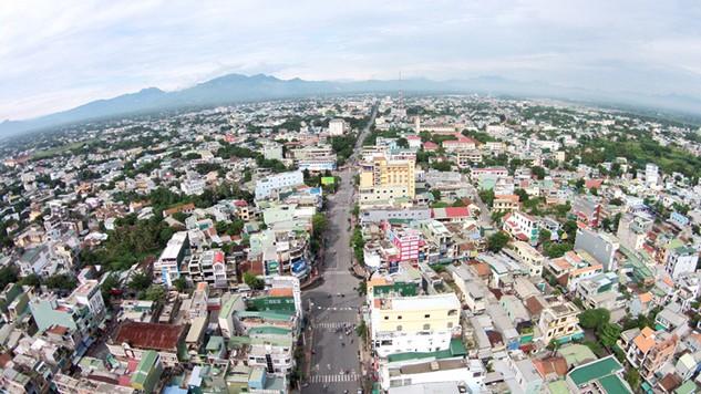 Một góc trung tâm thành phố Quảng Ngãi nhìn từ trên cao. Ảnh Internet
