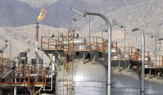 Mỏ khí South Pars gần cảng Assalouyeh, miền Nam Iran. (Nguồn: EPA/TTXVN)