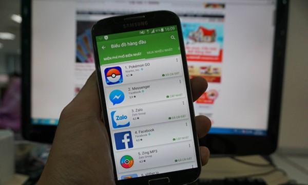 Đến ngày 22/8, Pokemon Go là ứng dụng dẫn đầu Top ứng dụng phổ biến nhất và có tổng doanh thu cao nhất tại CH Play Việt Nam.