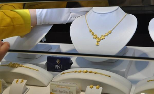 Giá vàng trong nước tăng nhẹ vài chục nghìn đồng mỗi lượng trong sáng nay. Ảnh:Lệ Chi