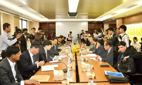 Việt Nam, Campuchia họp bàn về phân giới, cắm mốc biên giới ở Phnom Penh. Ảnh: TTXVN.