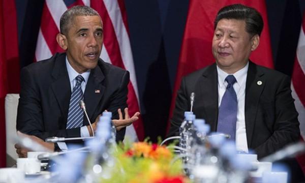 Tổng thống Mỹ Barack Obama và Chủ tịch Trung Quốc Tập Cận Bình. Ảnh: AP