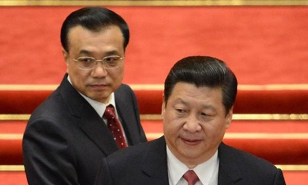 Chủ tịch Trung Quốc Tập Cận Bình (phải) và Thủ tướng nước này Lý Khắc Cường. Ảnh:AFP