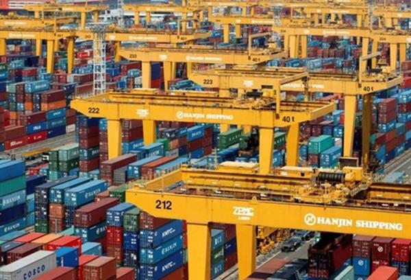 Hanjin Shipping đang gặp rất nhiều khó khăn do thương mại toàn cầu đi xuống. Ảnh:Reuters