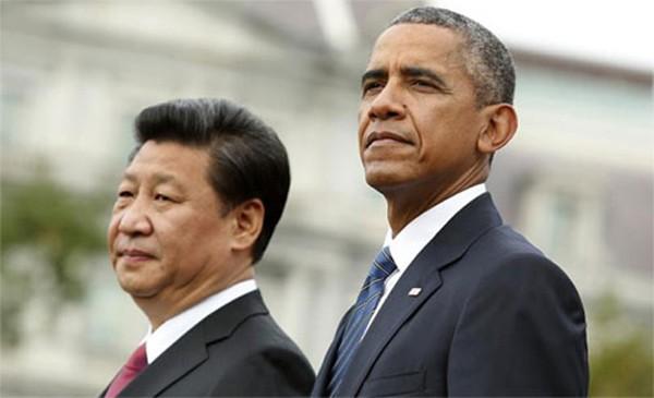Chủ tịch Trung Quốc Tập Cận Bình và Tổng thống Mỹ Barack Obama trong cuộc gặp tại Washington năm 2015. Ảnh: AP