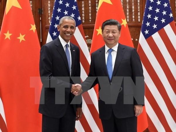 Chủ tịch Trung Quốc hội đàm với Tổng thống Mỹ trước thềm Hội nghị thượng đỉnh G20. (Ảnh: AFP/TTXVN)