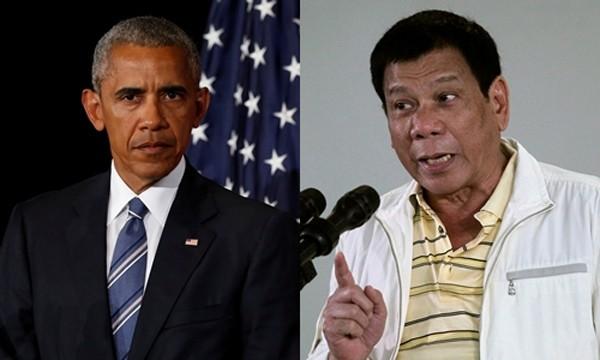 Tổng thống Mỹ Barack Obama (trái) và người đồng cấp Philippines Rodrigo Duterte. Ảnh: Reuters.