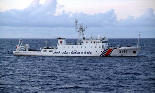 Một tàu tuần duyên Trung Quốc. Ảnh: AFP/Jiji.